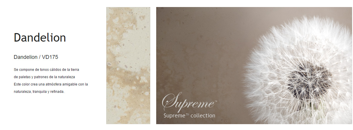 Superficies Staron Supreme Collection