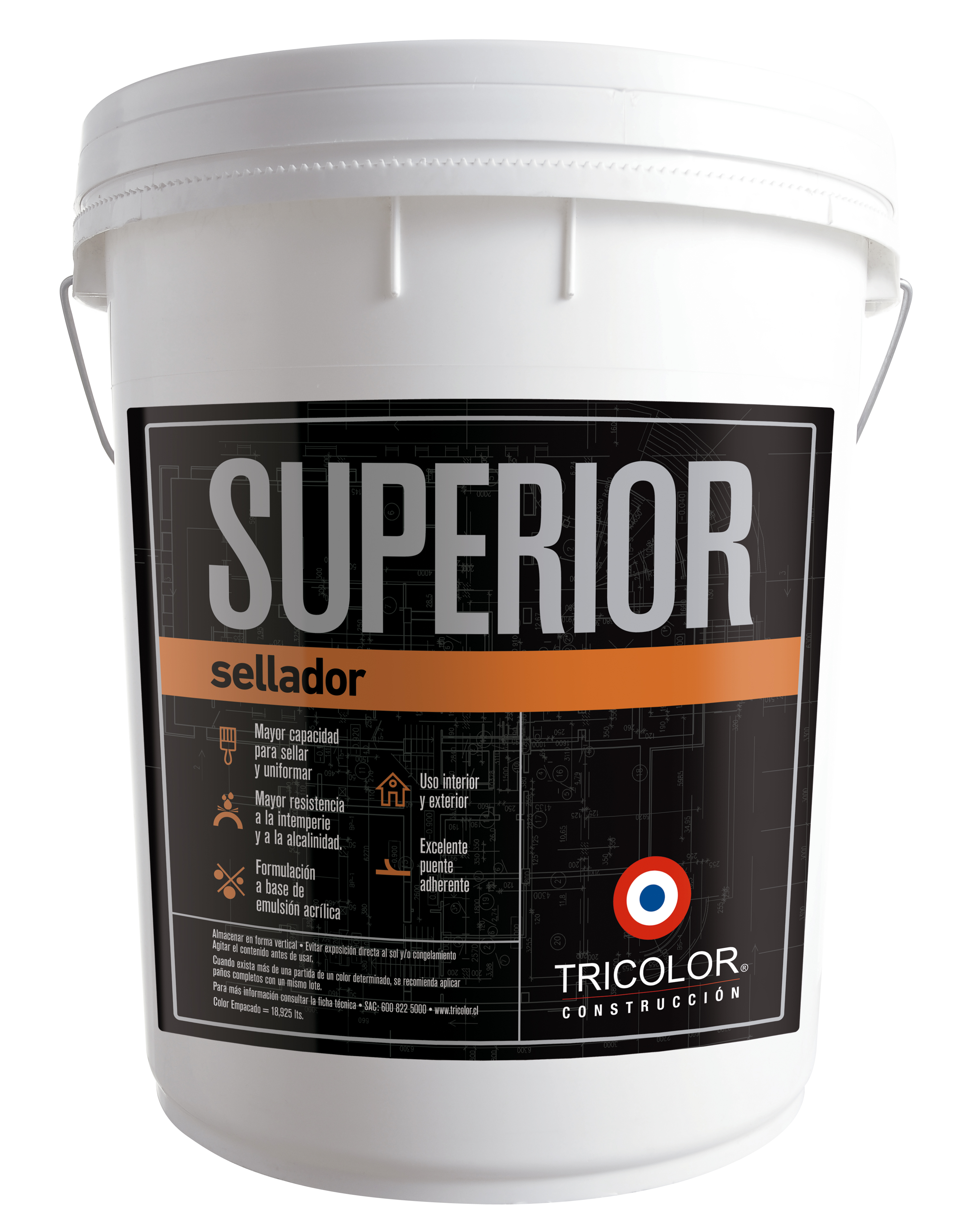 Sellador acrilico - Tricolor