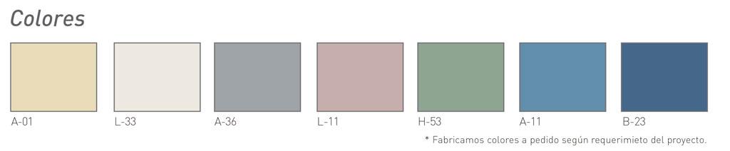 Palet de colores para guardamuro - Sysprotec