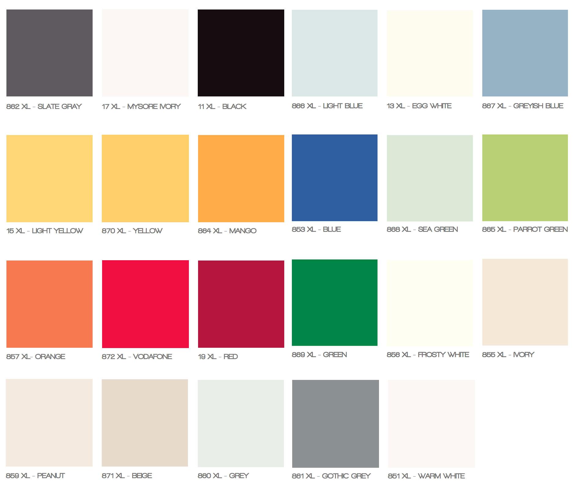 Laminados compactos para interiores, colores. ADS Chile.