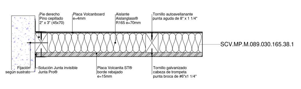 tabique perimetral - Volcán