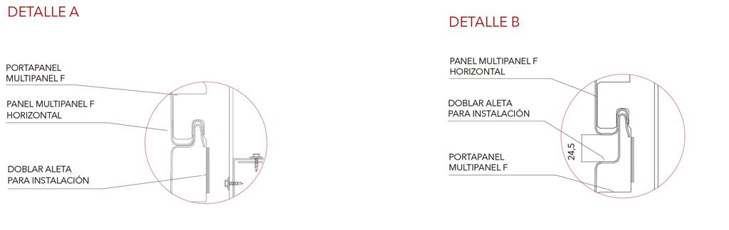 Paneles de fachada 150 F