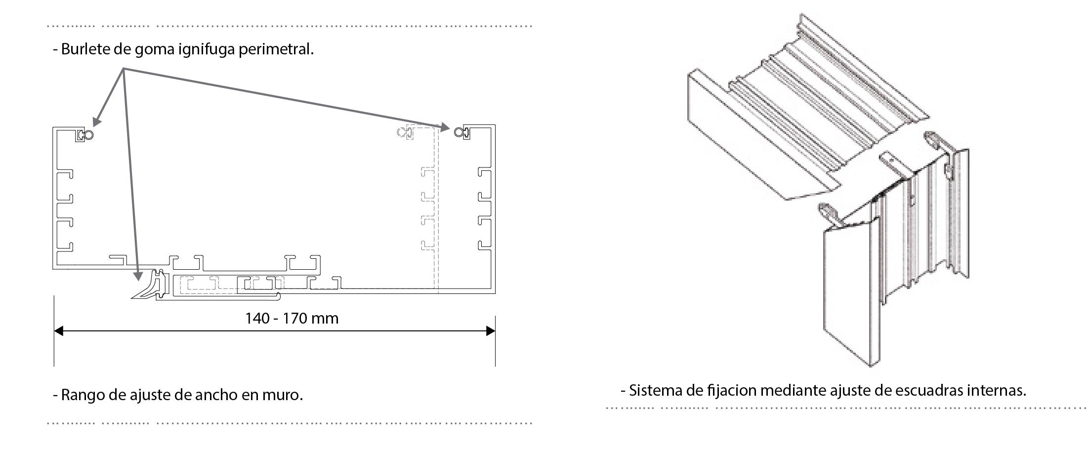 esquema 2 marco telescopico hospital sysprotec