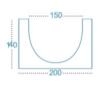 Canal hormigón polímero