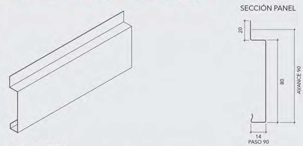 Esquema revestimiento Timberline - Hunter Douglas