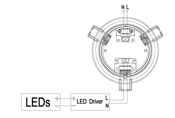 esquema 2 sensor movimiento microonda evolux