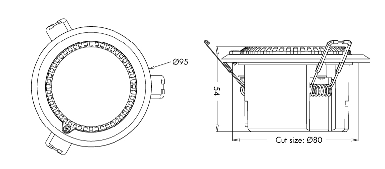 esquema sensor movimiento microonda evolux1