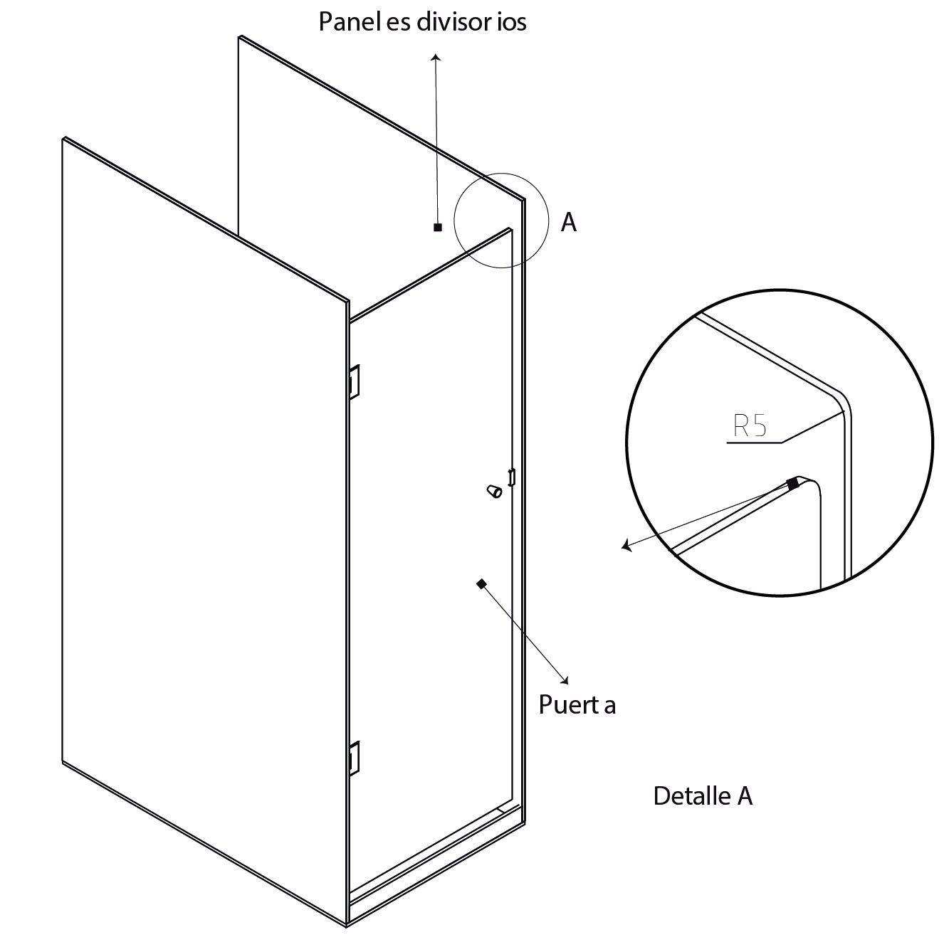 esuquema 2 showerdoor fenolico sysprotec
