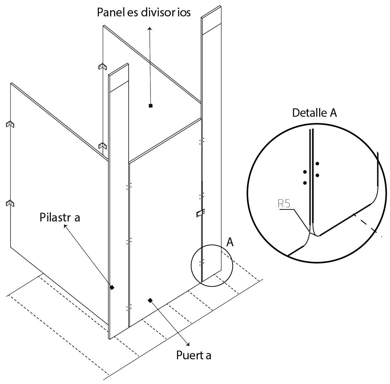 esquema 2 divisor baño fenolico sysprotec