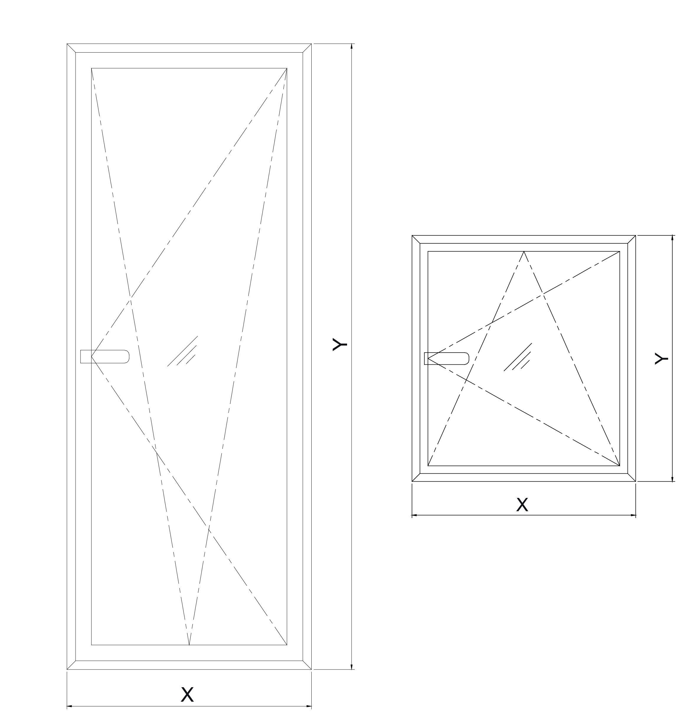 esquema puerta y ventana qt superior oscilobatiente