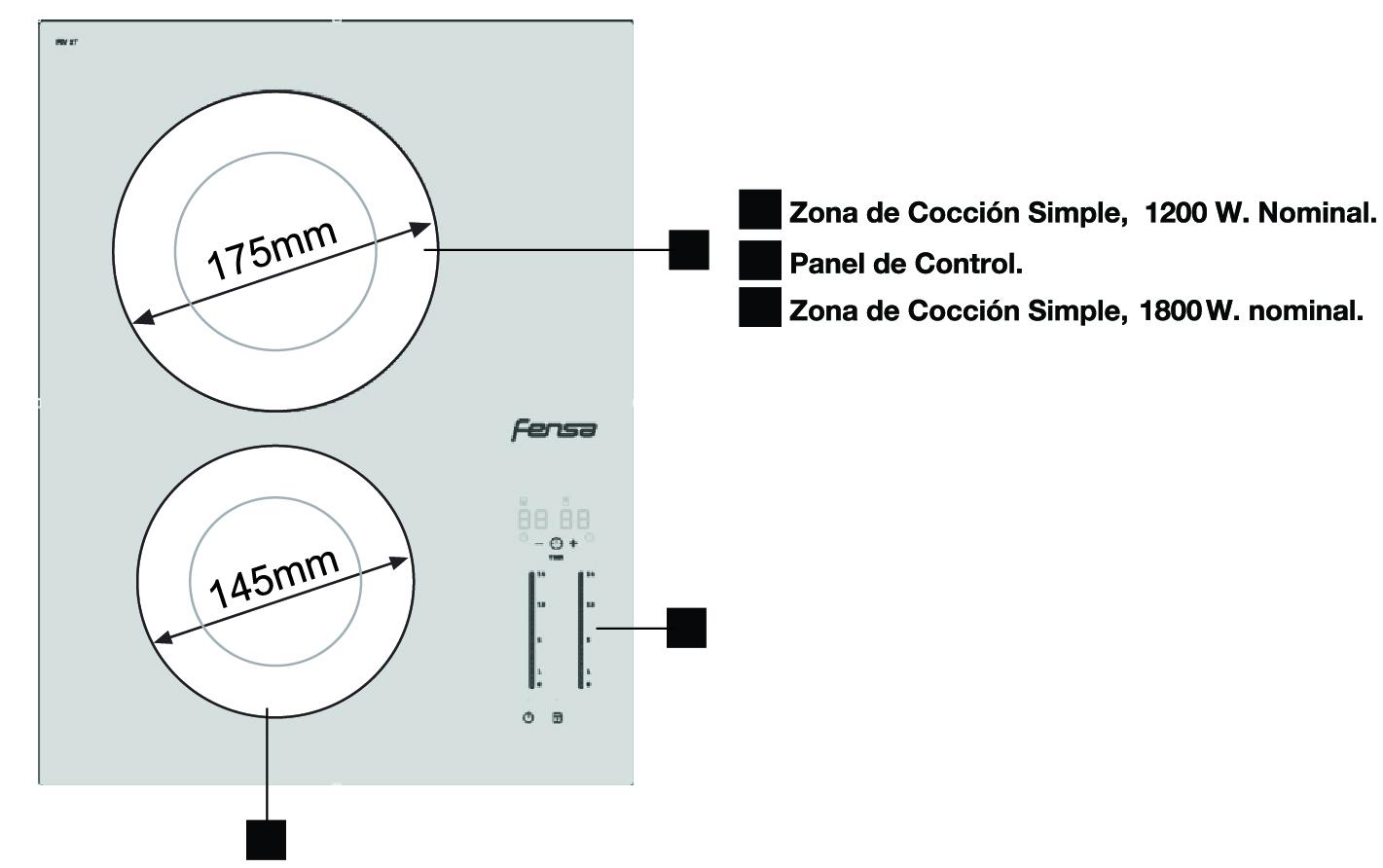 descripcion producto vitroceramico 2t