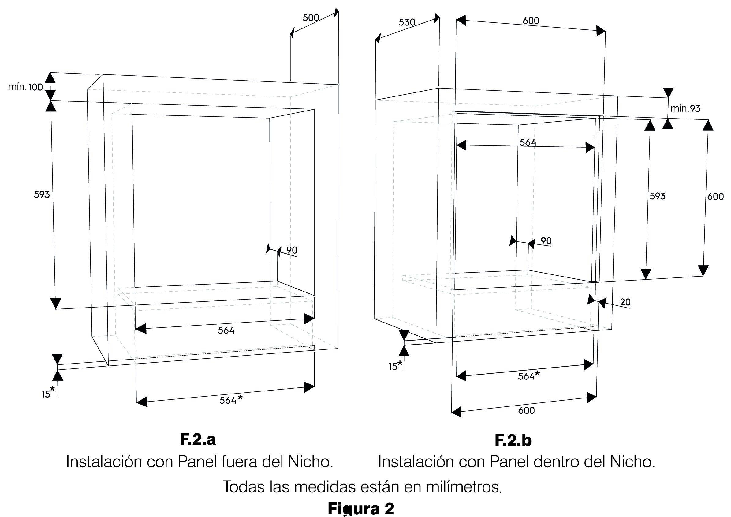 dimensiones nicho cocina empotrada fensa 1