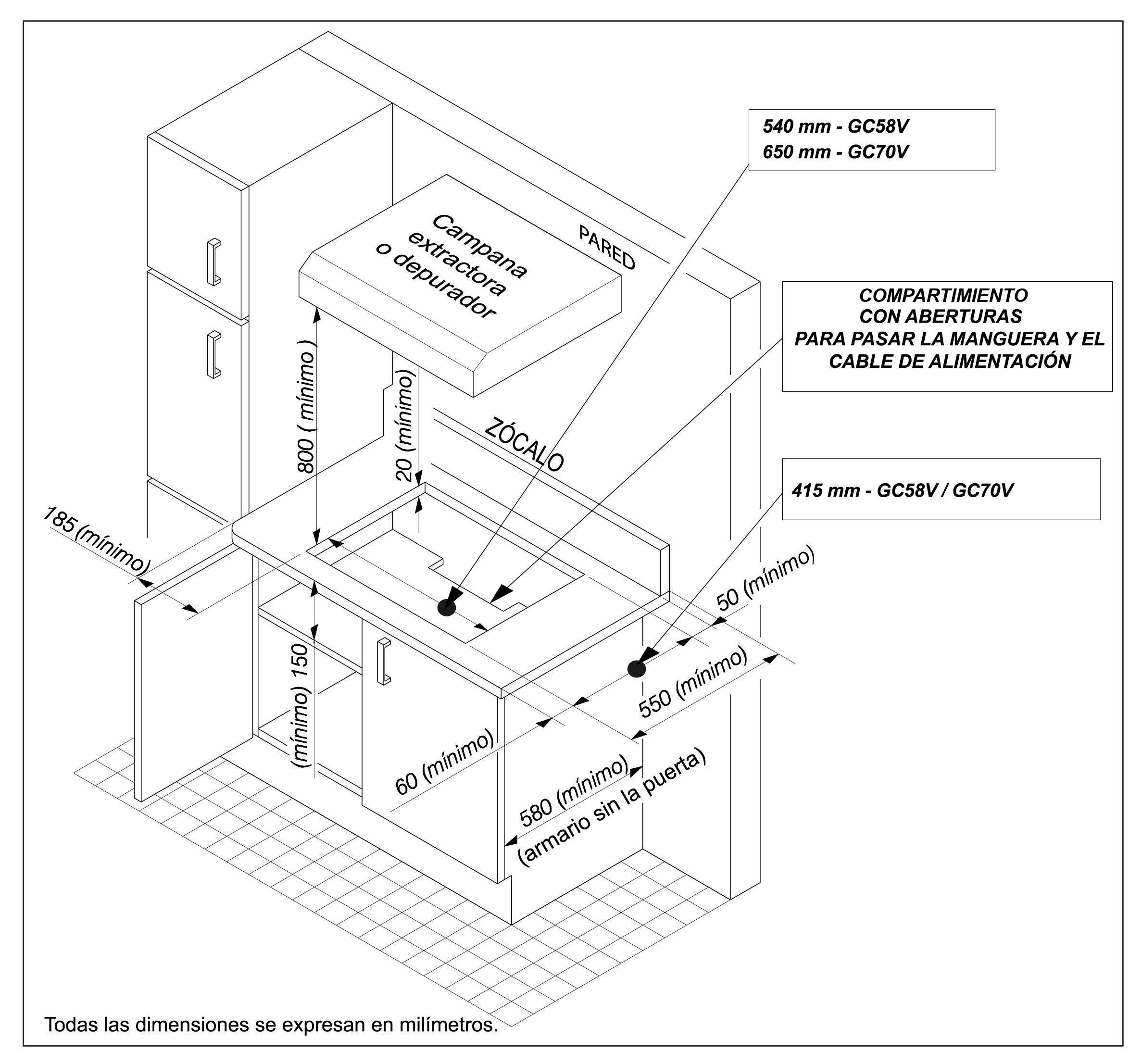 montaje esquema encimera gv38v