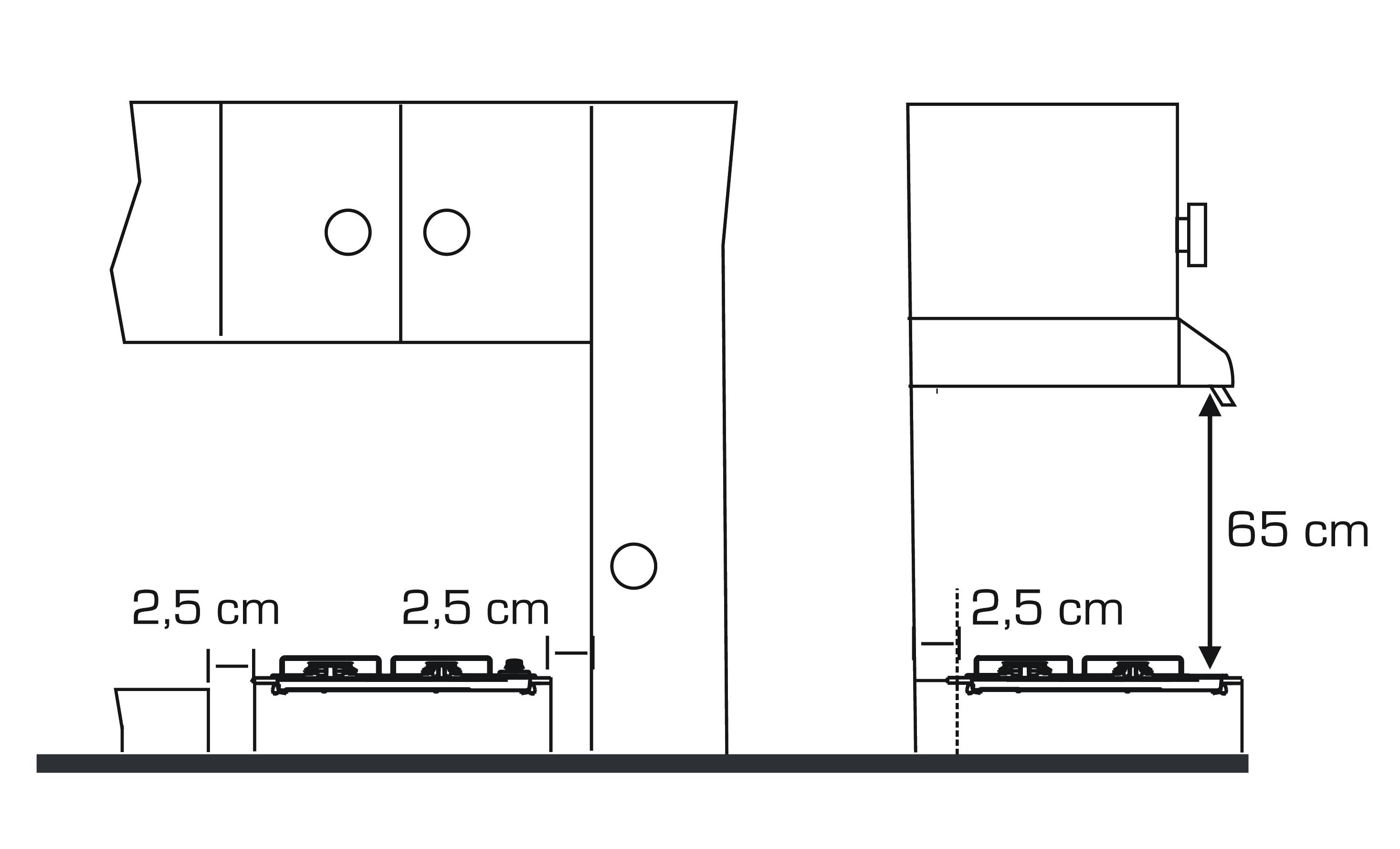 esquema instalacion dimensiones encimera fensa