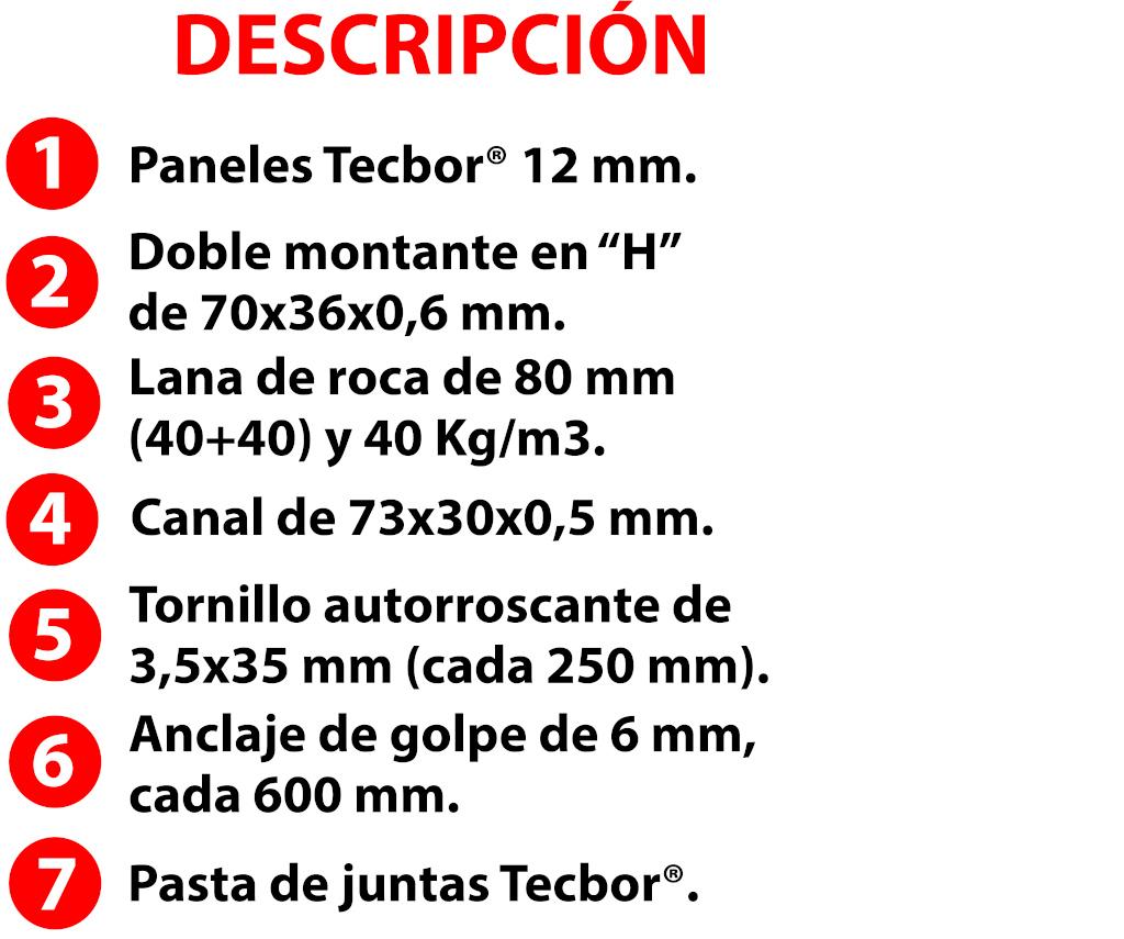 Tecbor® tabique RF OGUC F-120
