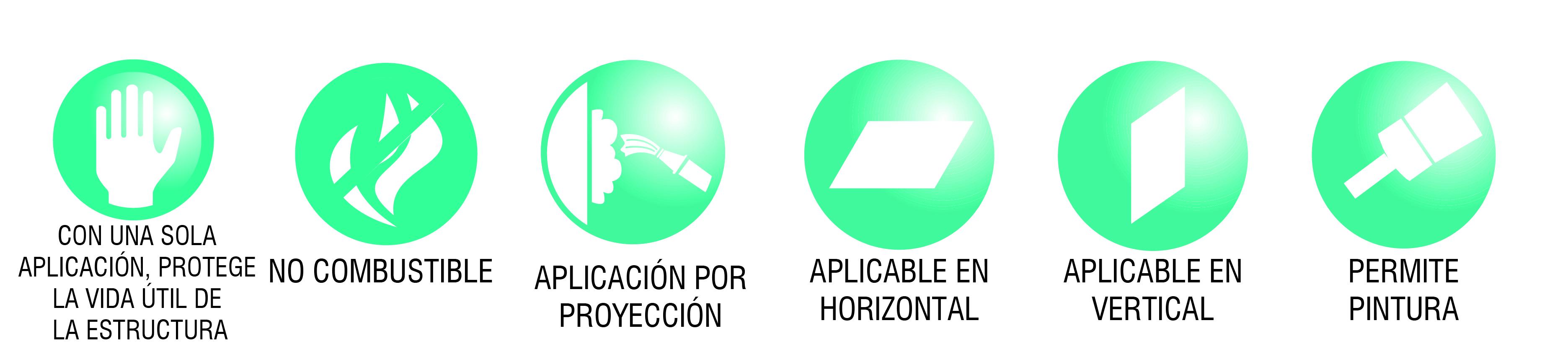 iconos ventajas igniver mortero de proyeccion