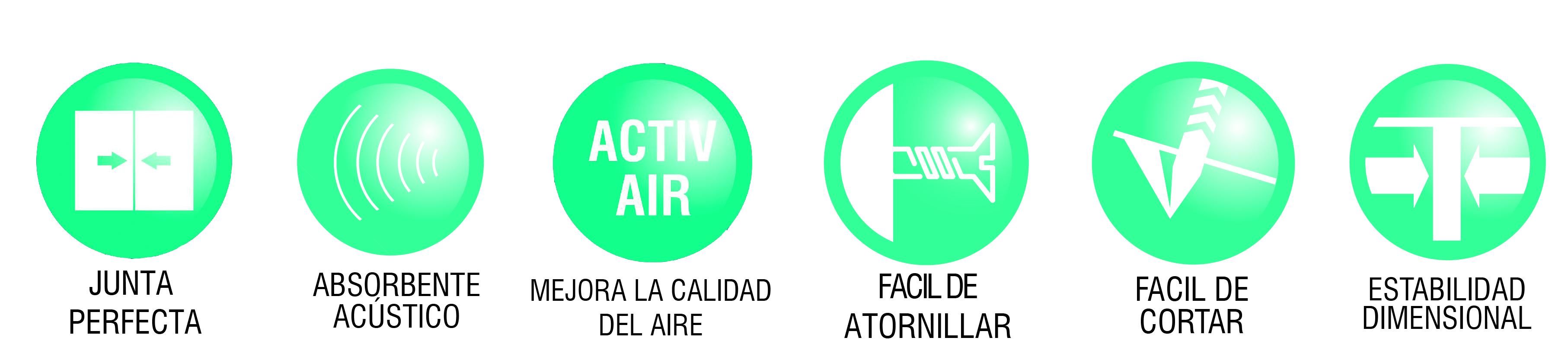 iconos ventajas rigitone placa acustica