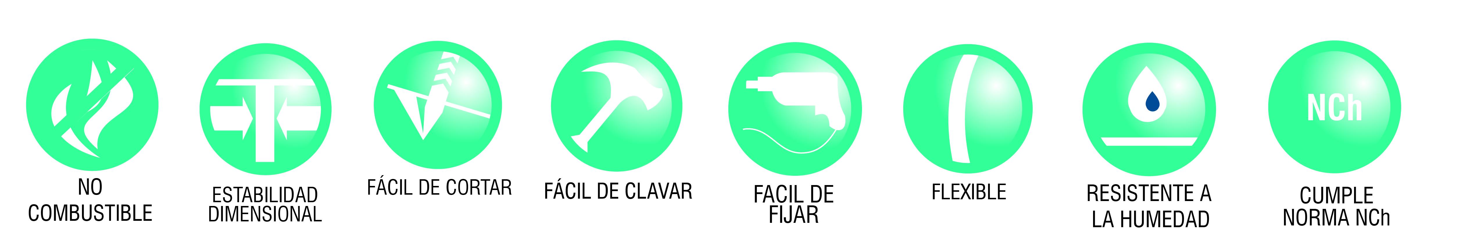 iconos ventajas volcansiding fibrocemento