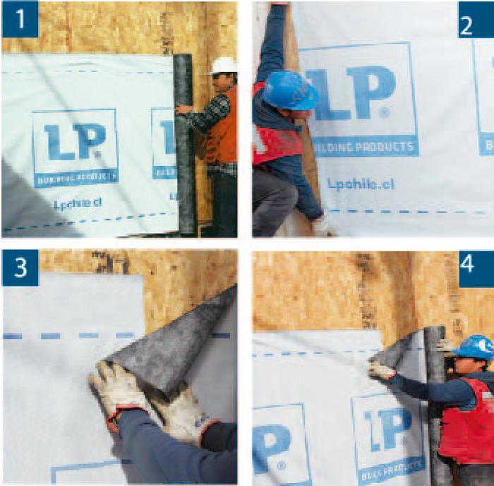 LP instalación en muros verticales