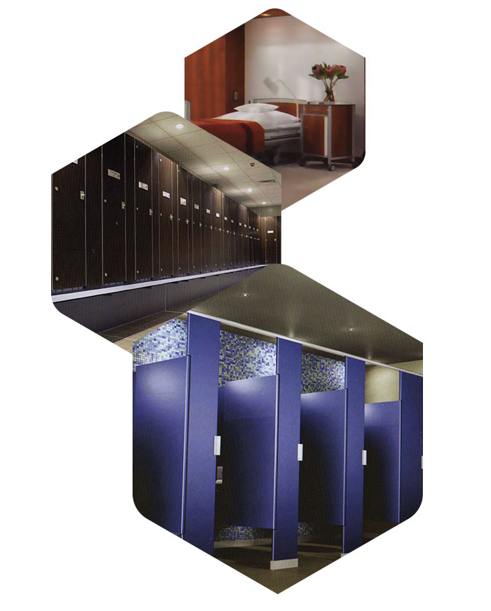 Laminados compactos para interiores. ADS Chile.