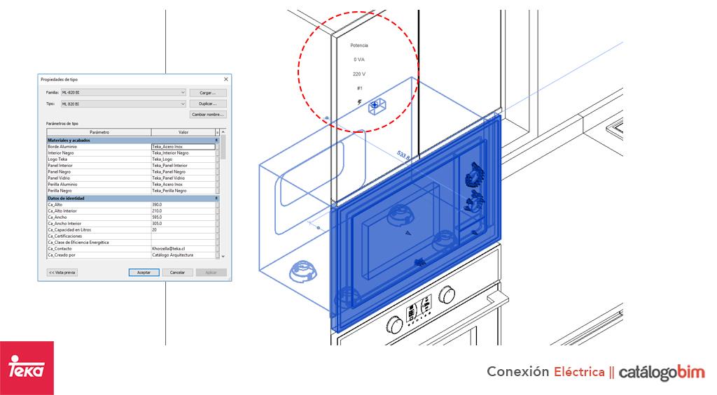 Descarga modelo de microondas empotrable de Teka Modelo ML 820 BI en BIM, puedes encontrar modelos 3D y familias de microondas empotrable de Teka parametrizables, con texturas realistas. Descarga gratis la familia de microondas empotrable de Teka Modelo ML 820 BI de Teka para su uso BIM, descargas en formatos Revit, rfa y rvt, e IFC y librerías de materiales, pronto descargas para ArchiCAD.