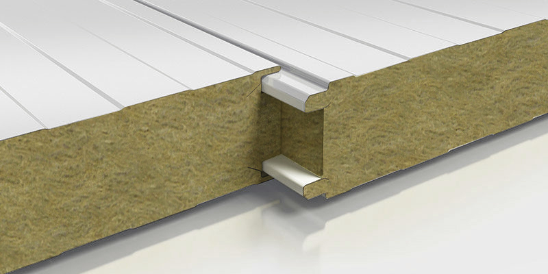 Panel de sectorización con núcleo lana de roca. ADS Chile.