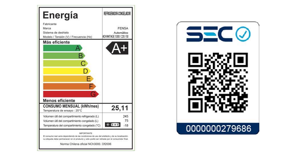 certificaciones refrigerador advantage fensa 5300
