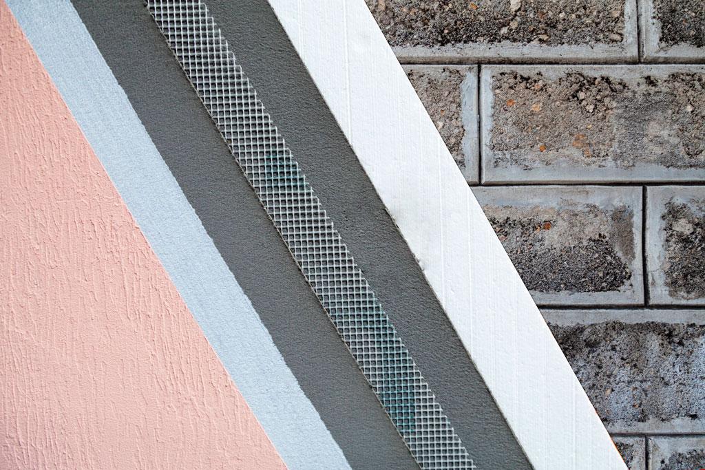 Revestimiento texturado Sistema EIFS - Tricolor