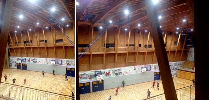 Solucion de iluminacion para gimnasio