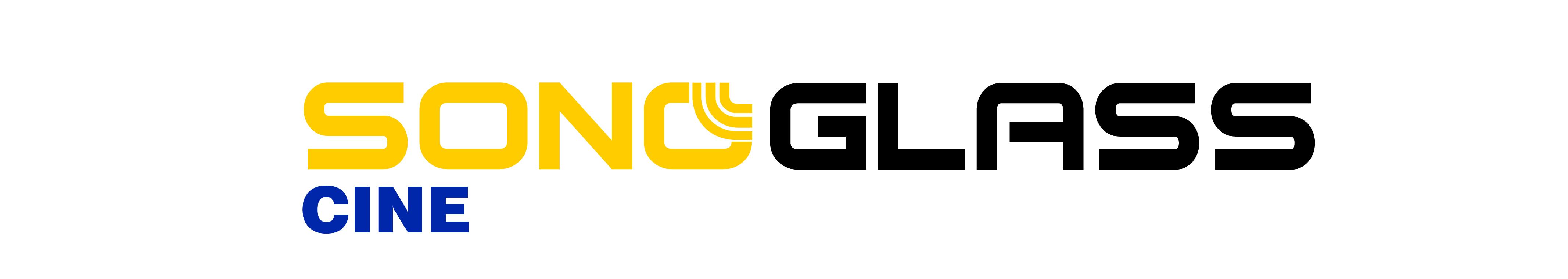 logotipo placa acustica sonoglass cine