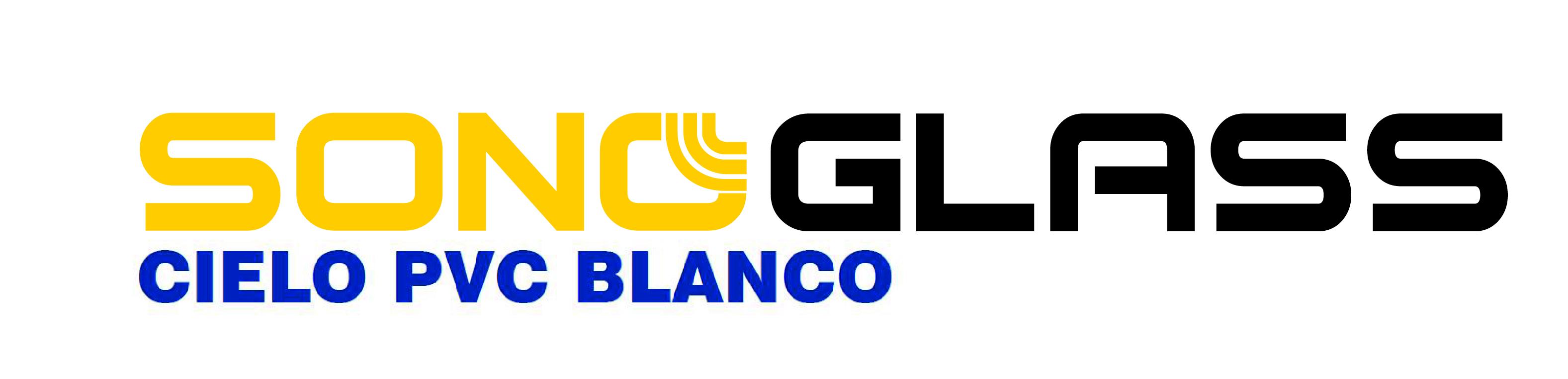 logotipo sonoglass pvc blanco