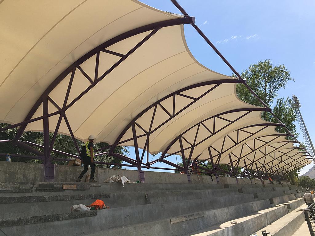Tensoestructura, estadio Conchali - Domos