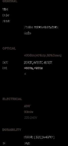 tabla especificaciones cube red light