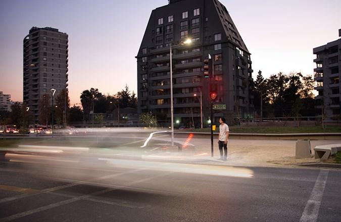 Luminaria LED uso publico.