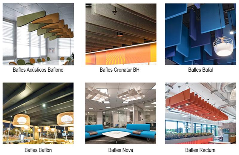 Variedad de bafles Paramento Design