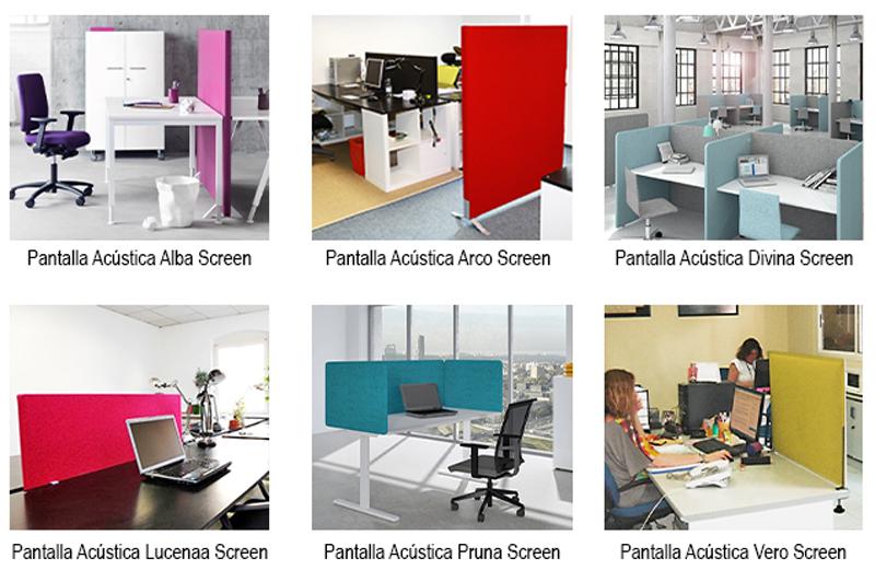 Variedad de separadores de oficina Paramento Design