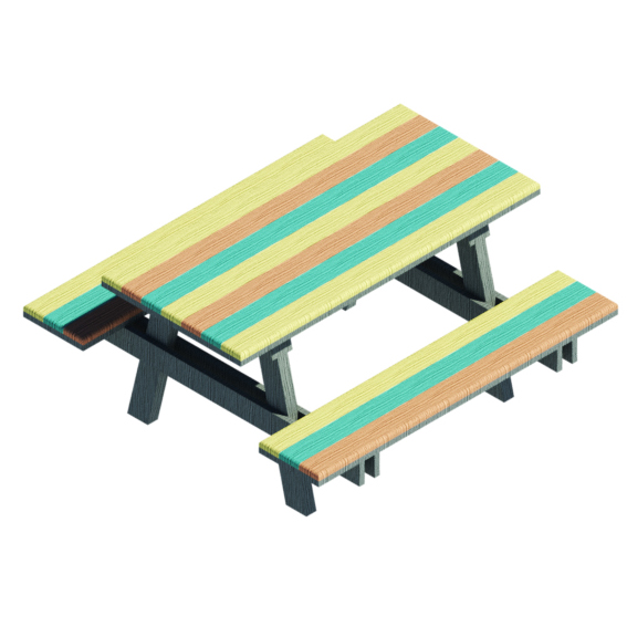 Mesa de picnic Timber Ecco Colores