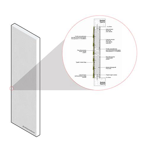 Tabique Estructural Perimetral SCV.MP.M.085.015.122.35.1