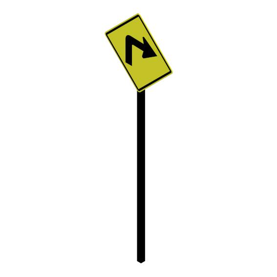 Curva cerrada a la derecha