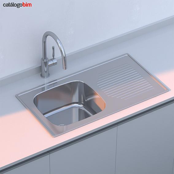 Lavaplatos empotrado – Modelo 800.440 1C 1E