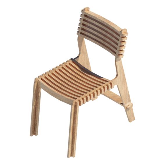 Silla modular madera