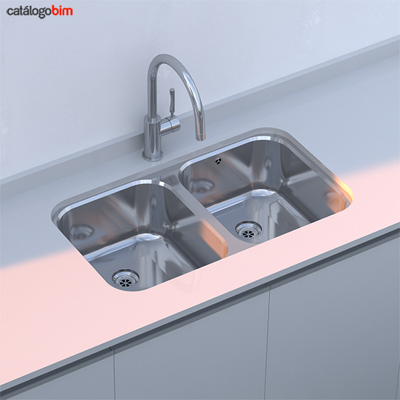 Lavaplatos bajo encimera – Modelo BE 2C 780