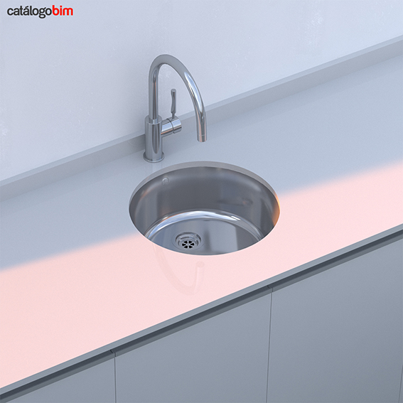 Lavaplatos bajo encimera – Modelo BE Redondo 39
