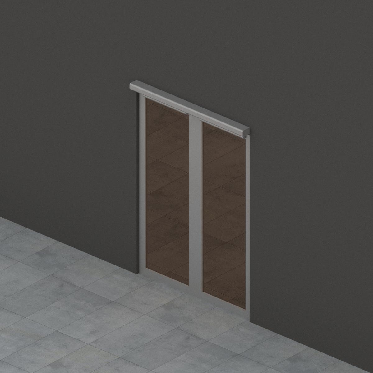 Puerta Batiente 2 hojas en de G-U BIM