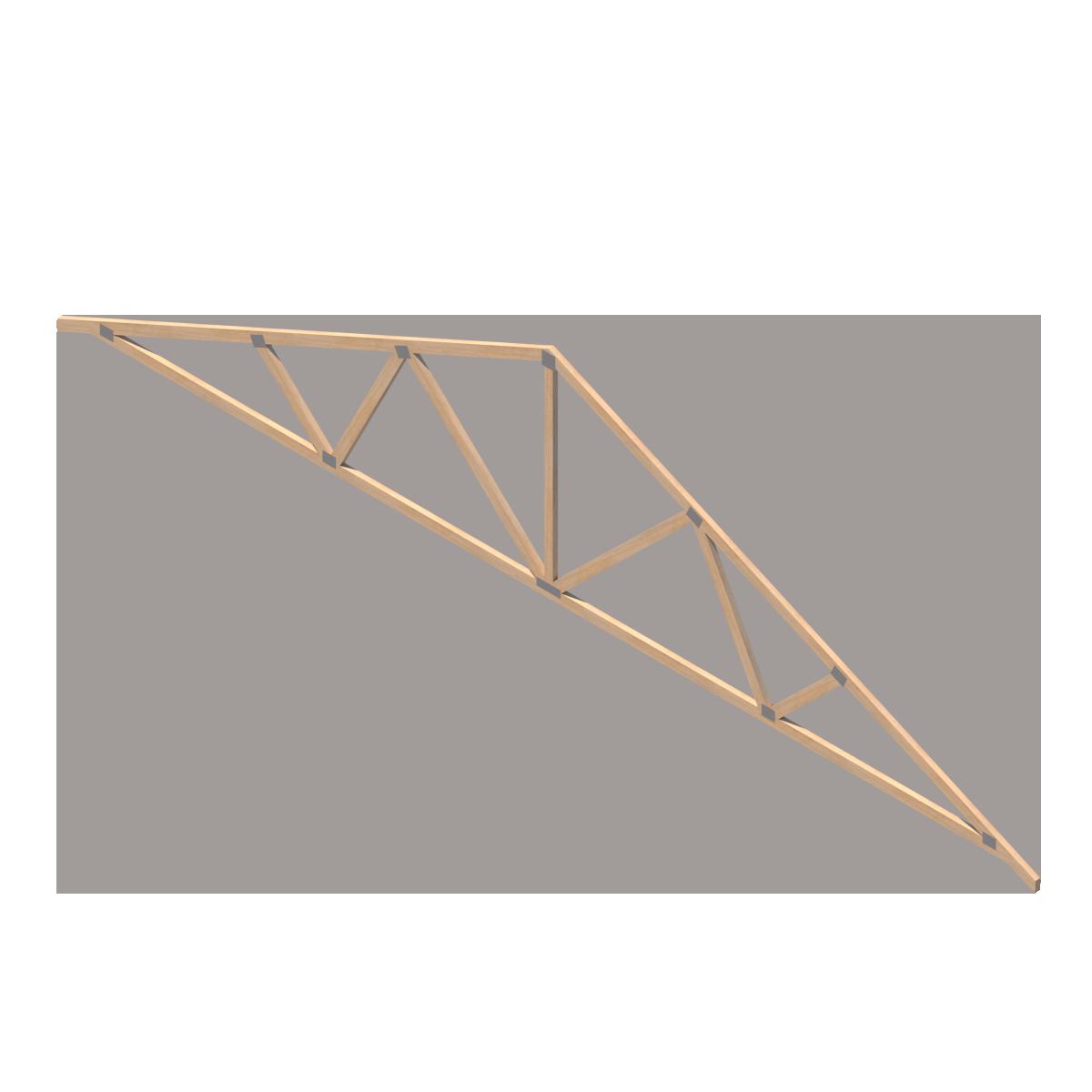Cercha Prefabricada de Madera de Tecnopanel en BIM