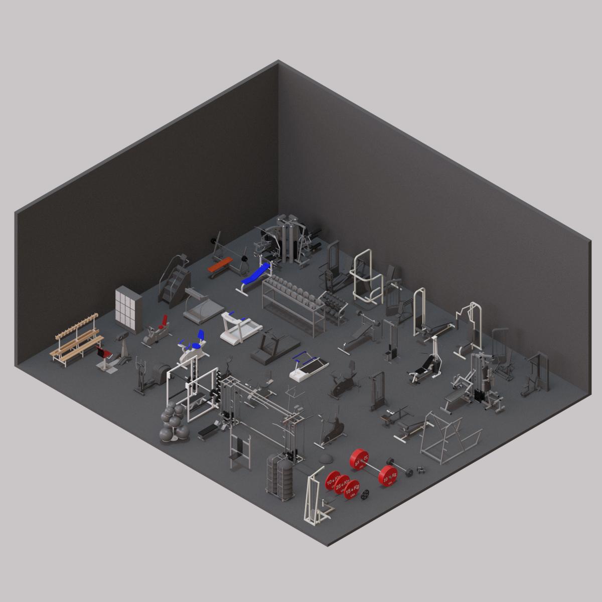 Colección de gimnasio en BIM