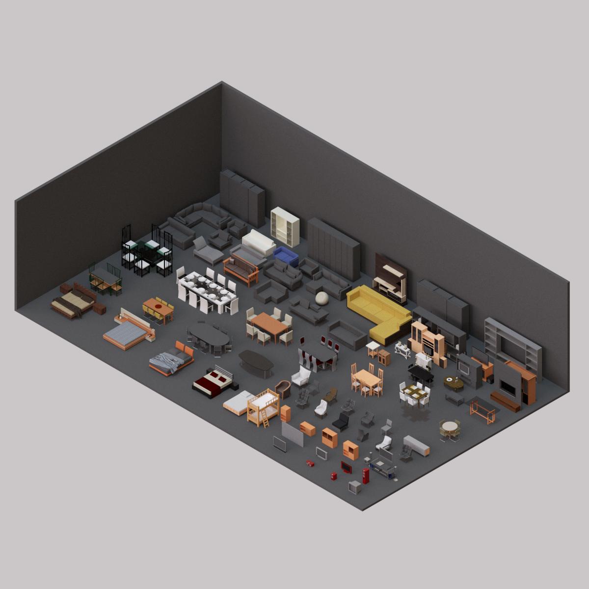 Colección de Mobiliario domiciliario en BIM