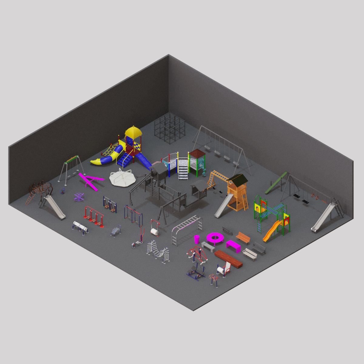 Colección de Mobiliario de Plaza en BIM