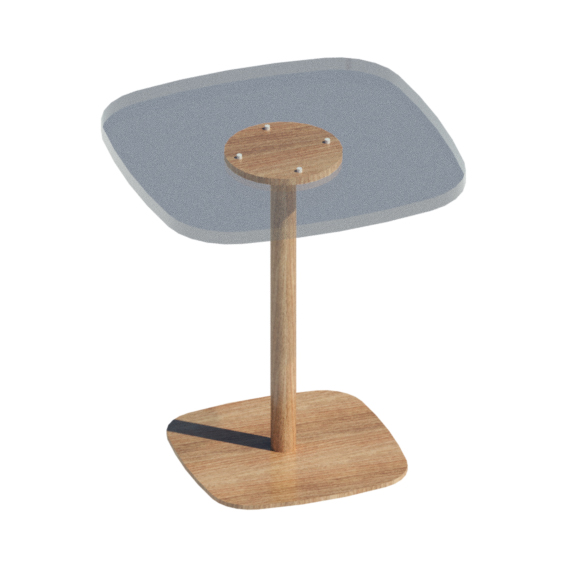 Mesa de centro base madera
