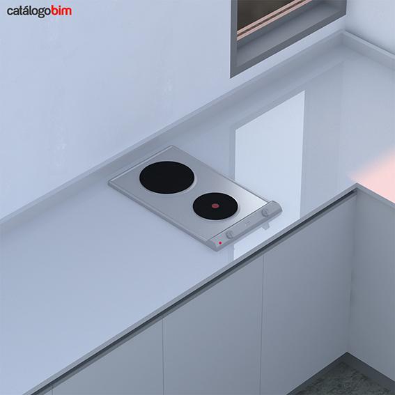 Encimera placa de cocción a gas – Modelo EM 30 2P